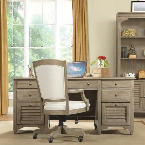 RiversideMyra - Executive Desk - Natural Finish