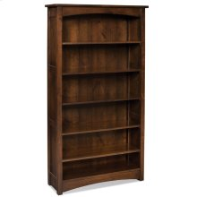Prairie Mission Open Bookcase, Prairie Mission Open Bookcase, 2-Adjustable Shelves