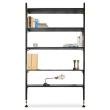 Theo Wall Unit With Large Shelves  Black
