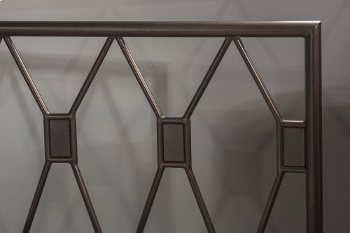 Tripoli King Headboard With Frame (black Pewter)