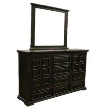 """Dresser : 69"""" x 20"""" x 42"""" Terra Dark Dresser/Mirror"""