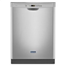 Monochromatic Stainless Steel Maytag® Reliable Dishwasher with Industry-Exclusive Stainless Steel Silverware Basket