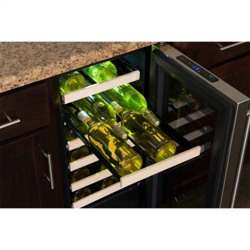 """Marvel 15"""" High Efficiency Single Zone Wine Refrigerator - Panel-Ready Solid Overlay Door - Integrated Left Hinge (handle not included)*"""