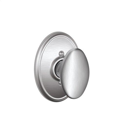Siena Knob with Wakefield trim Non-turning Lock - Satin Chrome