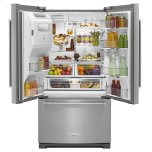 KitchenAid 26.8 cu. ft. 36-Inch Width Standard Depth French Door Refrigerator with Exterior Ice and Water and PrintShield™ finish - Stainless Steel with PrintShield™ Finish