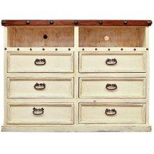 White/Walnut Don Carlos TV Dresser