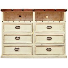White/Walnut Don Carlos TV Dresser