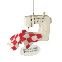 """Sew Much Fabric, Sew Little Time!"" Ornament. Product Image"