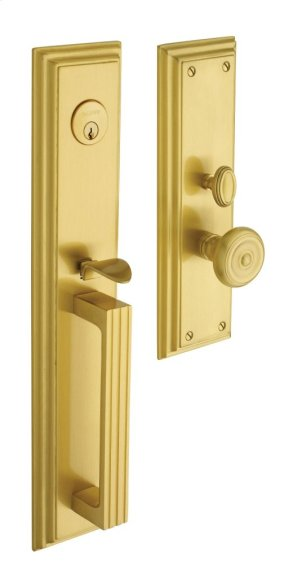 Satin Brass Tremont Entrance Trim