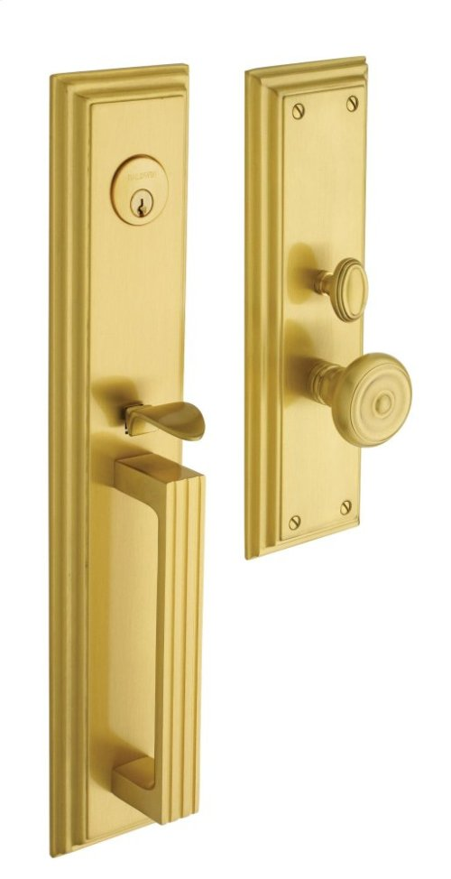 Satin Brass Tremont Entrance Trim