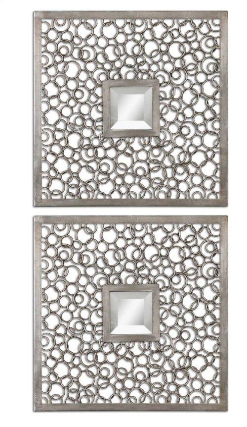 Colusa Squares Mirrored Wall Decor, S/2