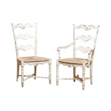 Cecile Side Chair with Rush Seat