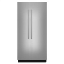 """42"""" Built-In Side-by-Side Refrigerator"""
