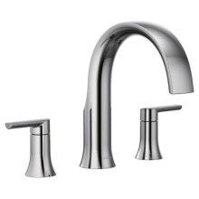 Doux chrome two-handle roman tub faucet