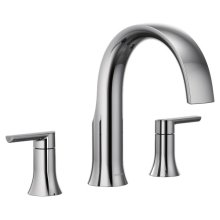 Doux chrome two-handle roman tub faucet