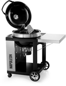 PRO Charcoal Kettle Grill Black with Cart
