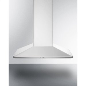 "Summit36"" European 650 Cfm Range Hood In Stainless Steel"