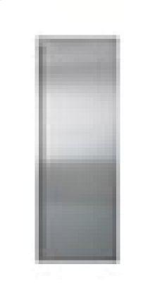 "Built-In 42"" Stainless Steel Flush Inset Refrigerator Door Panel with Tubular Handle"