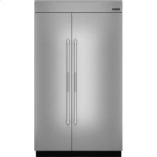 "48""(w) Fully Integrated Built-In Side by Side Refrigerator Panel Kit., Pro-Style® Stainless Handle"