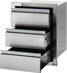 "18"" X 24"" Triple Drawer , Stainless Steel"