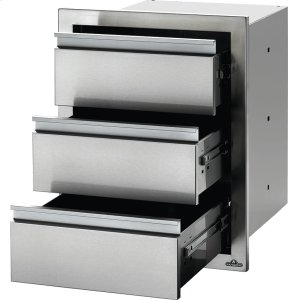 "Napoleon Grills18"" X 24"" Triple Drawer , Stainless Steel"