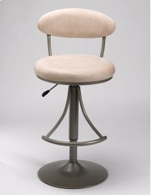 Venus Stool Beige With Silver Base