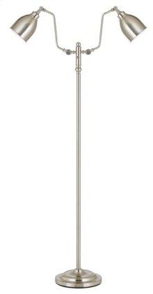 60W x 2 dual light pharmacy floor lamp with metal shade