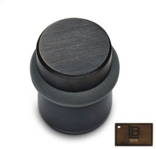 Cylindrical Door Stop, Brushed Antique Brass