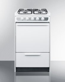"20"" Wide Slide-in Gas Range In White With Sealed Burners and Electronic Ignition; Replaces Wnm114r"