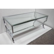 Contemporary Chrome Coffee Table Product Image