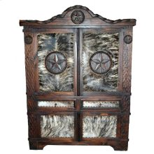 Dark Texas Rope Armoire W/hide
