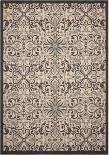 Caribbean Crb12 Ivory/charcoal Rectangle Rug 5'3'' X 7'5''