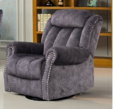 Grey Velvet Motion Recliner