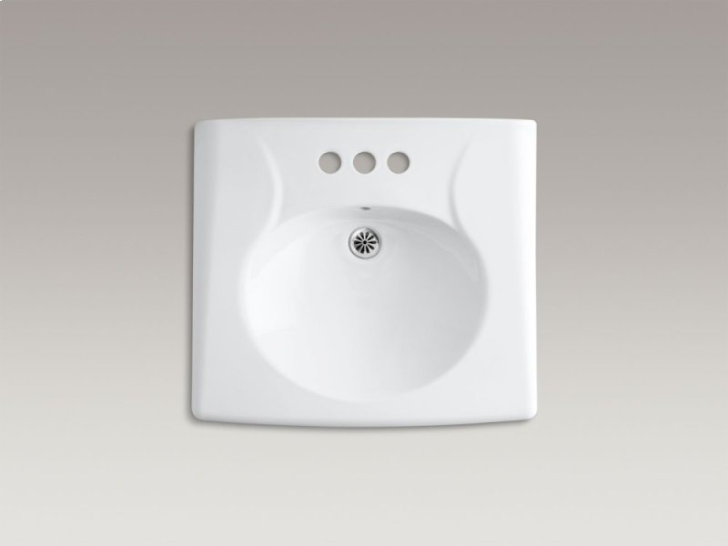Hidden · Additional Almond Wall-mounted or Concealed Carrier Arm Mounted Commercial Bathroom Sink With 4""