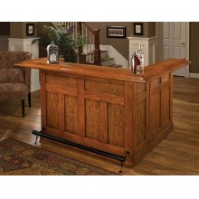 Classic Oak Large Bar With Side Bar