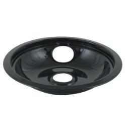 "6"" Universal Porcelain Replacement Bowl - Black"
