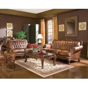 Victoria Traditional Tri-tone Three-piece Living Room Set Product Image
