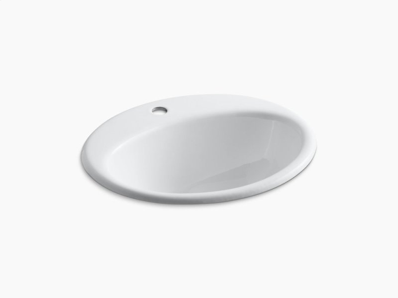 K In White By Kohler In Atlanta GA White Dropin Bathroom - Black drop in bathroom sink