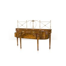An English Classic Buffets / Sideboard - Brass Galleried