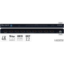 1x8 4K/18G HDMI Distribution Amplifier, HDR10, HDCP2.2