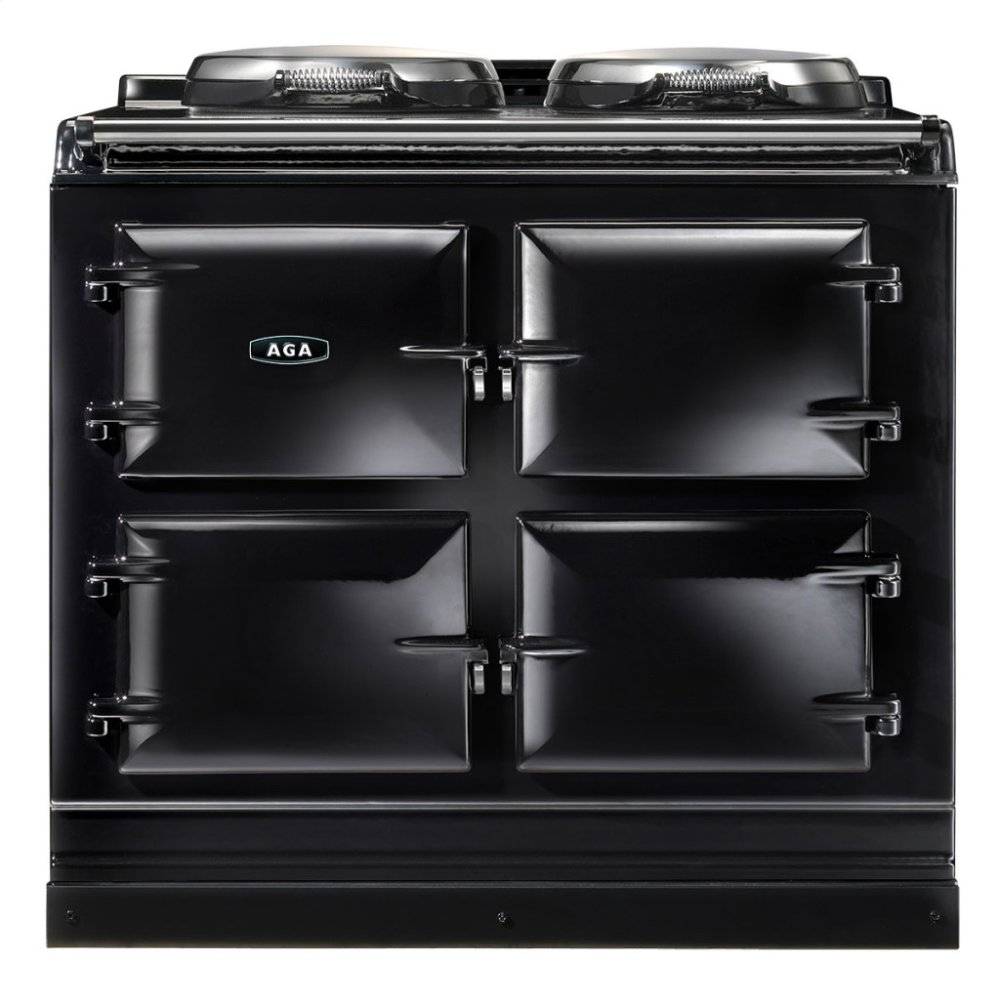 Black AGA Dual Control 3-Oven Natural Gas
