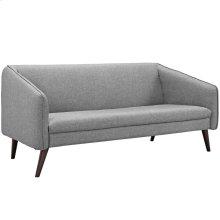 Slide Upholstered Fabric Sofa in Light Gray