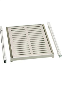 Fully extendable shelves in aluminium