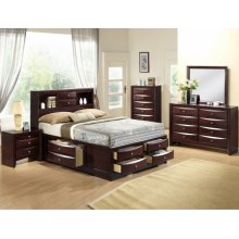Emily Night Stand Dark Cherry