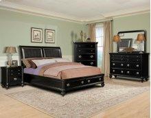 Danbury King Bedroom Group: King Bed, Nightstand, Dresser & Mirror