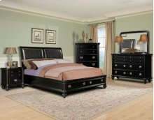Danbury King Bedroom Set: King Bed, Nightstand, Dresser & Mirror
