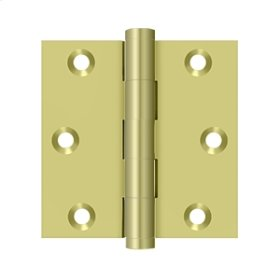 "3""x 3"" Square Hinge - Polished Brass"