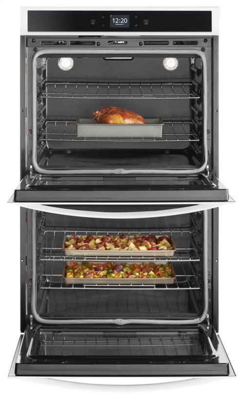 10.0 cu. ft. Smart Double Wall Oven with Touchscreen