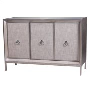 Mancini Mirrored Sideboard 3 Doors, Cream/Silver Product Image