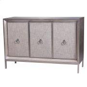 Mancini Mirrored Sideboard 3 Doors, Cream/Silver Product Image
